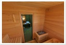 Luxury suite with sauna